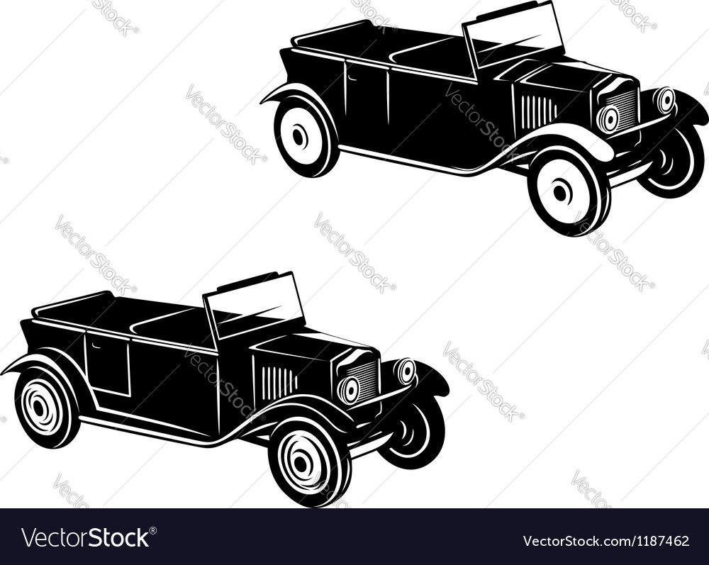 Retro car of 1920-1930 year vector image