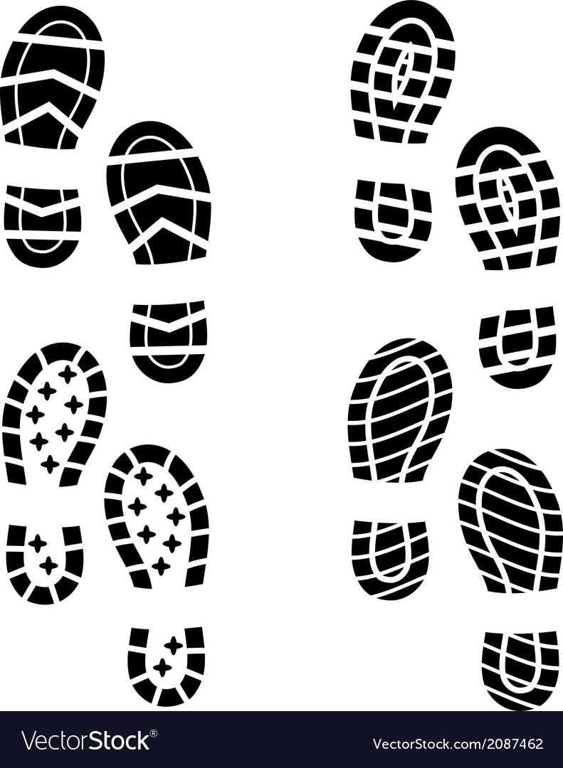 Shoe print vector image