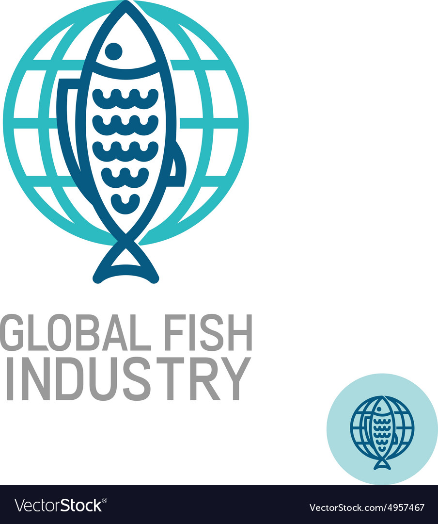 Fish with globe logo