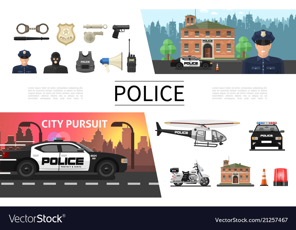 Flat police elements concept