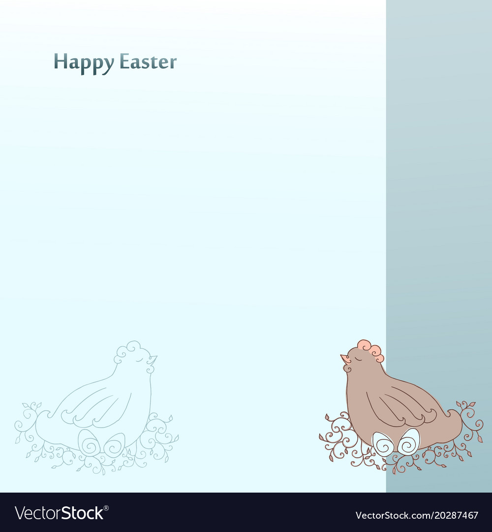 Happy easter greeting cards postcard template vector image m4hsunfo