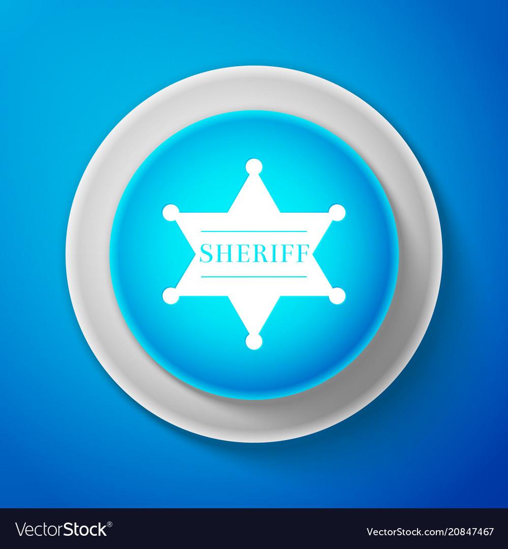 Hexagonal sheriff star icon sheriff badge symbol