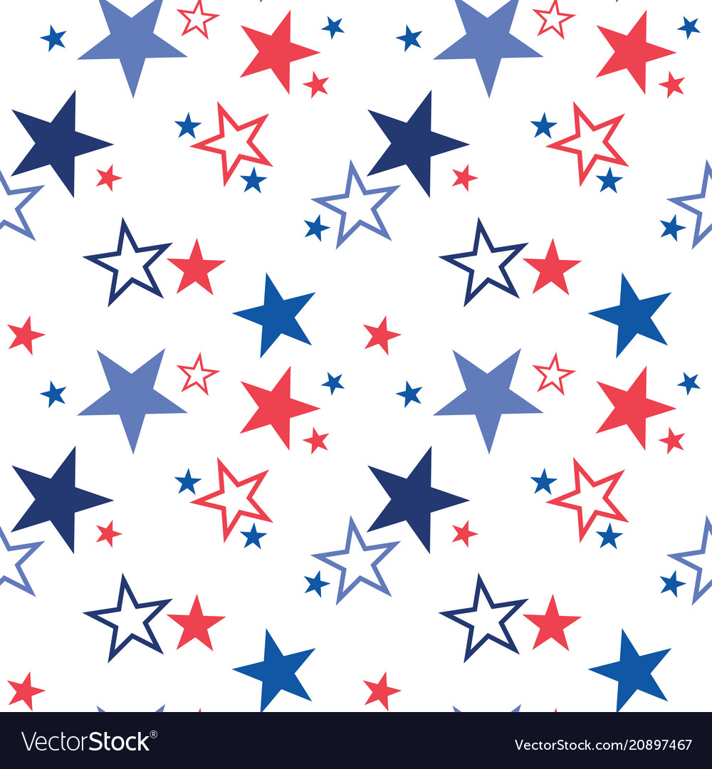 Seamless pattern with patriotic stars