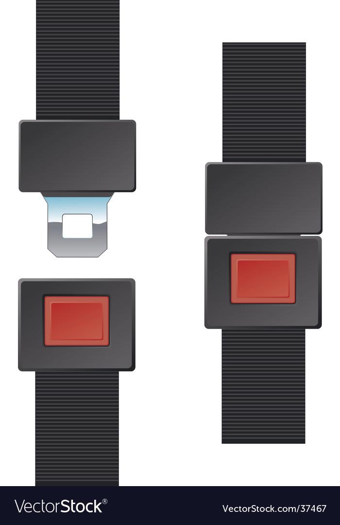 Seat belt buckle vector image