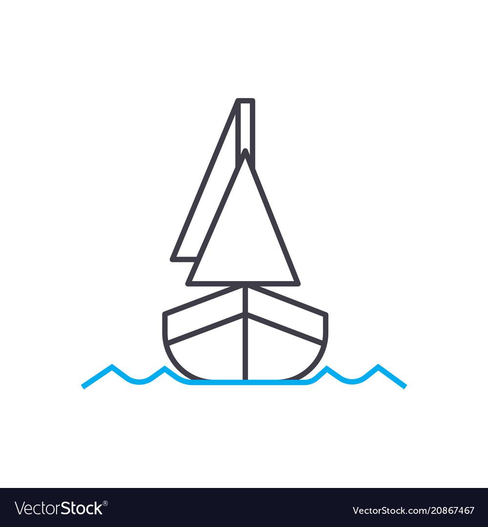 Shipping thin line stroke icon shipping