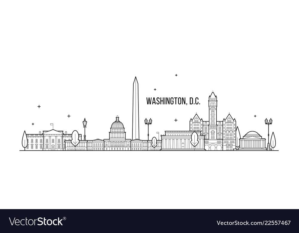 Washington d c skyline usa city buildings