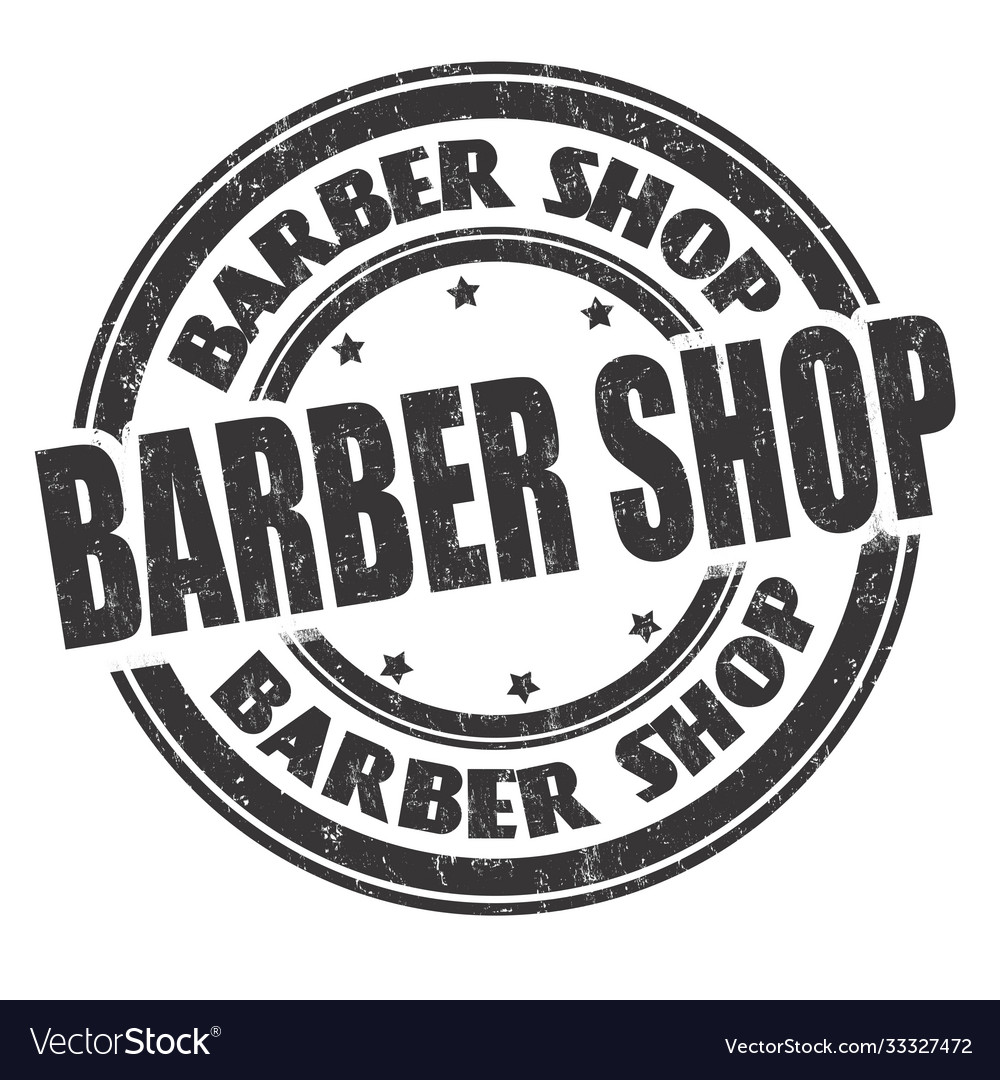 Barber shop sign or stamp