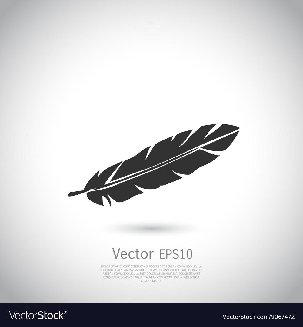 Feather icon or logo