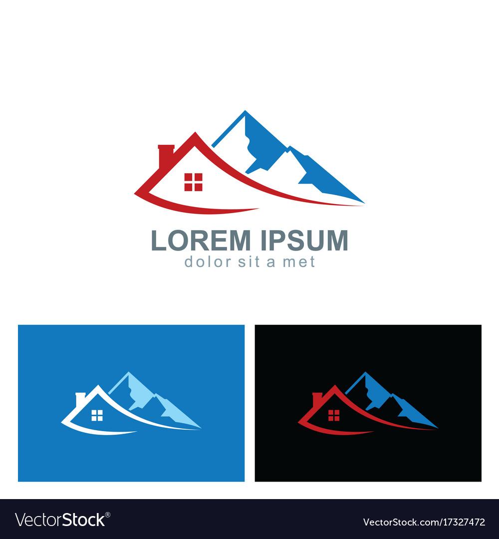 House mountain travel logo