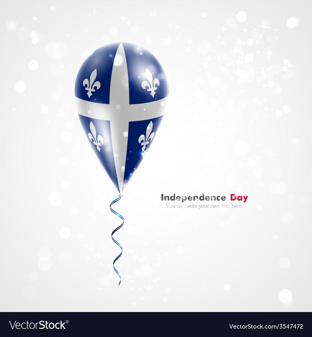 e2508bb8 Quebec flag on balloon Royalty Free Vector Image