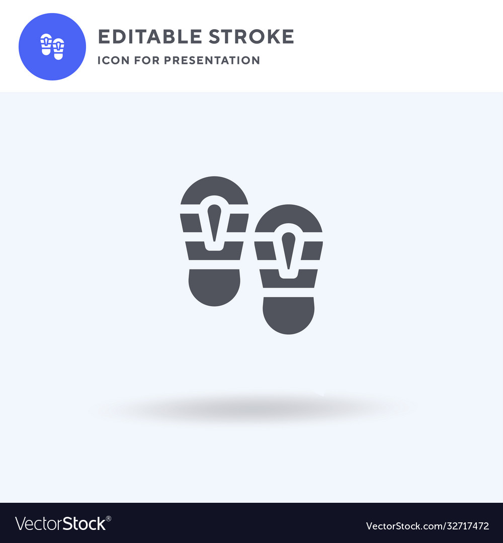Shoe prints icon filled flat sign solid