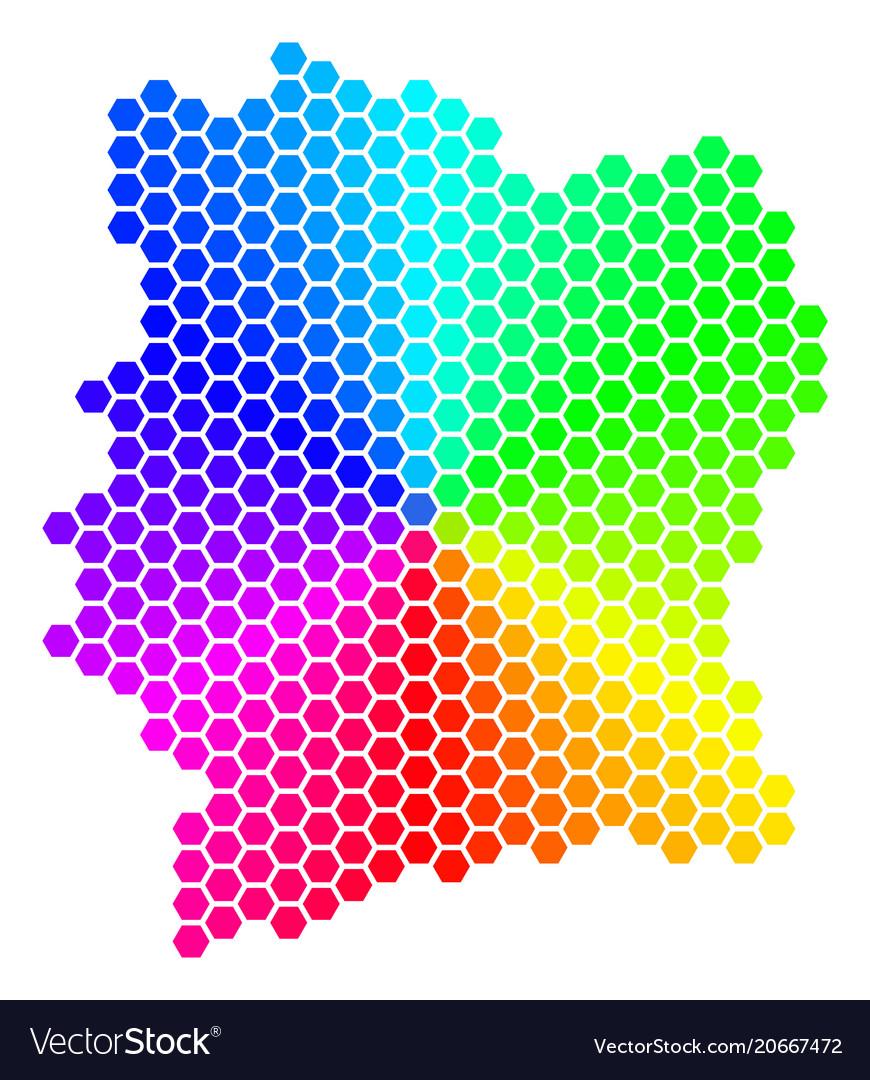 Spectrum hexagon cote d ivoire map