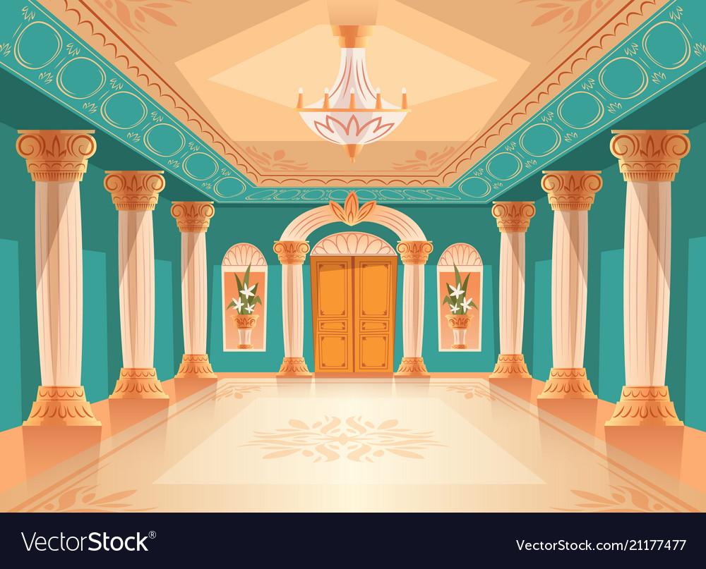 Ballroom Or Royal Palace Hall Vector Image
