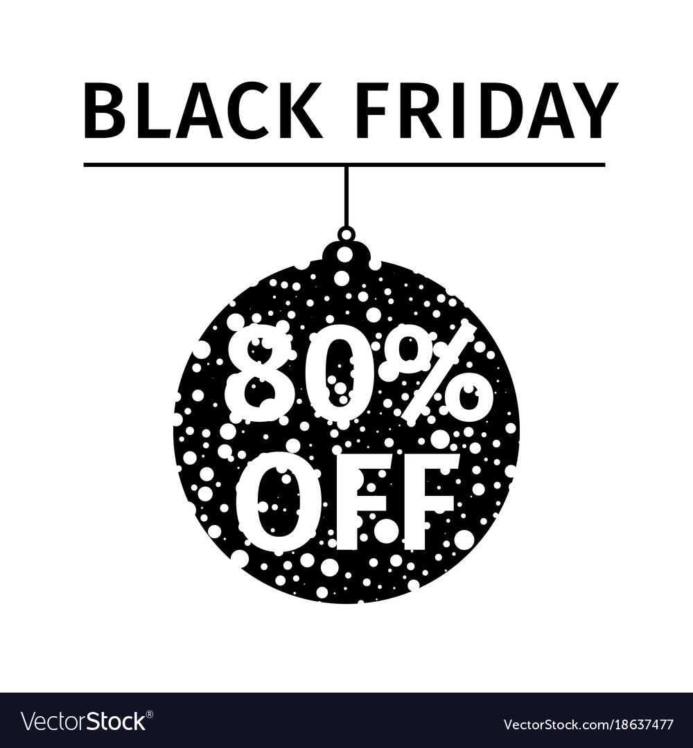 Black friday sale banner in form of christmas ball
