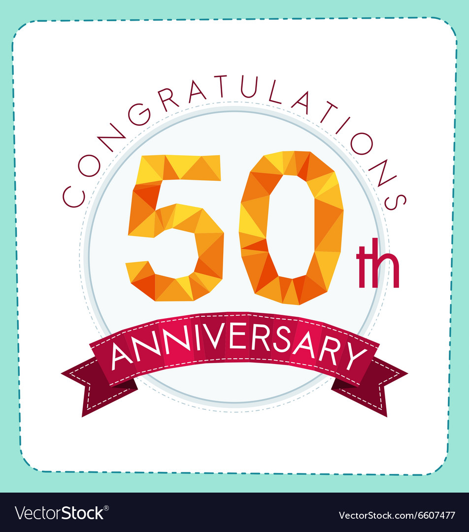 Colorful polygonal anniversary logo 3 050