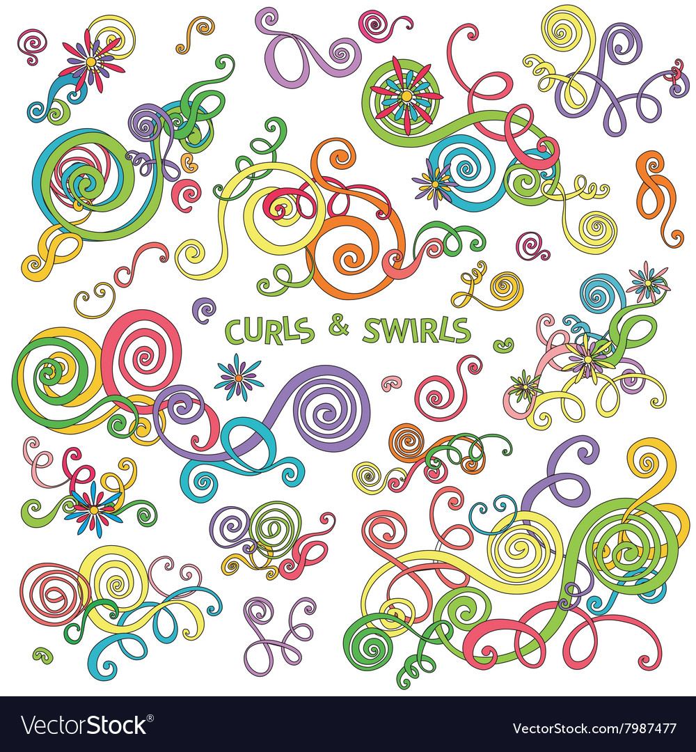 Curls and swirls design elements