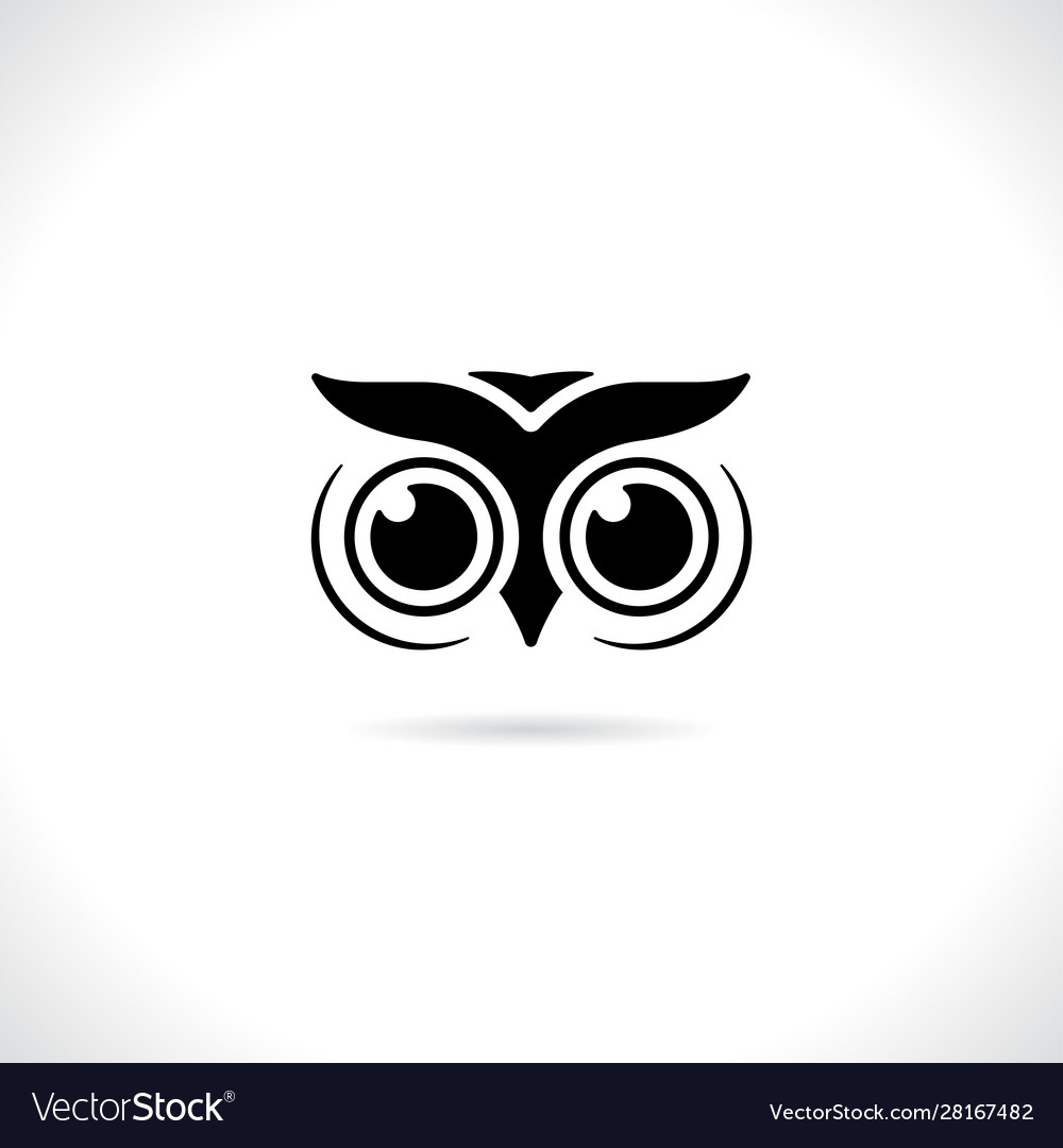 An owl face design on white background animal
