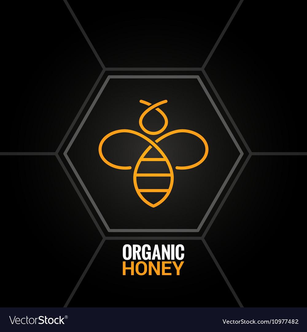 Bee logo on honeycomb background