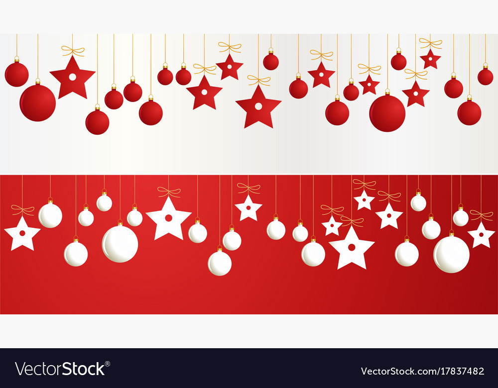 Christmas Banners.Christmas Banners With Decorations