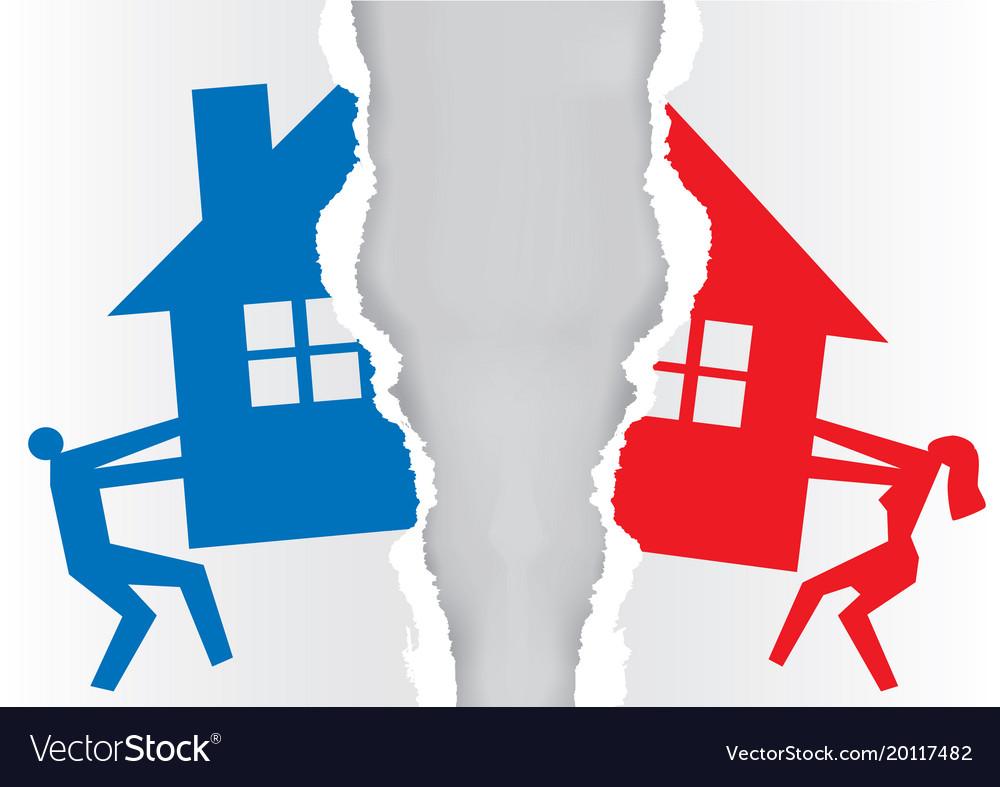 https://cdn3.vectorstock.com/i/1000x1000/74/82/division-of-property-at-divorce-vector-20117482.jpg