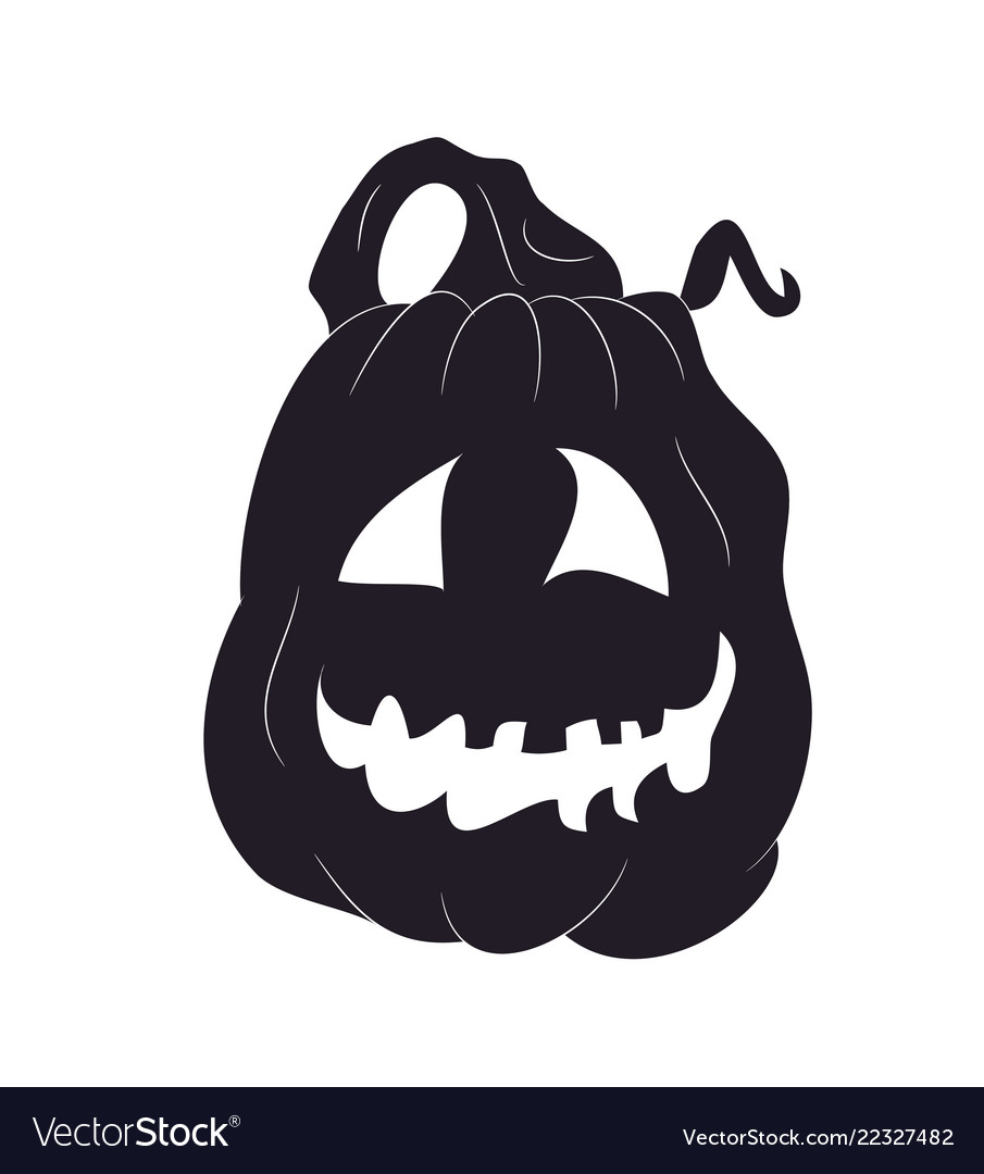 Halloween Pumpkin Silhouette Drawing Royalty Free Vector Techniques on how to paint a wood. vectorstock