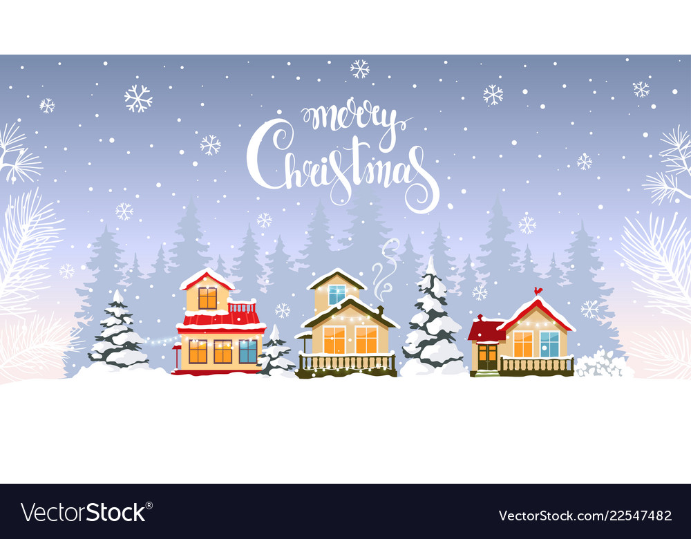 House winter background