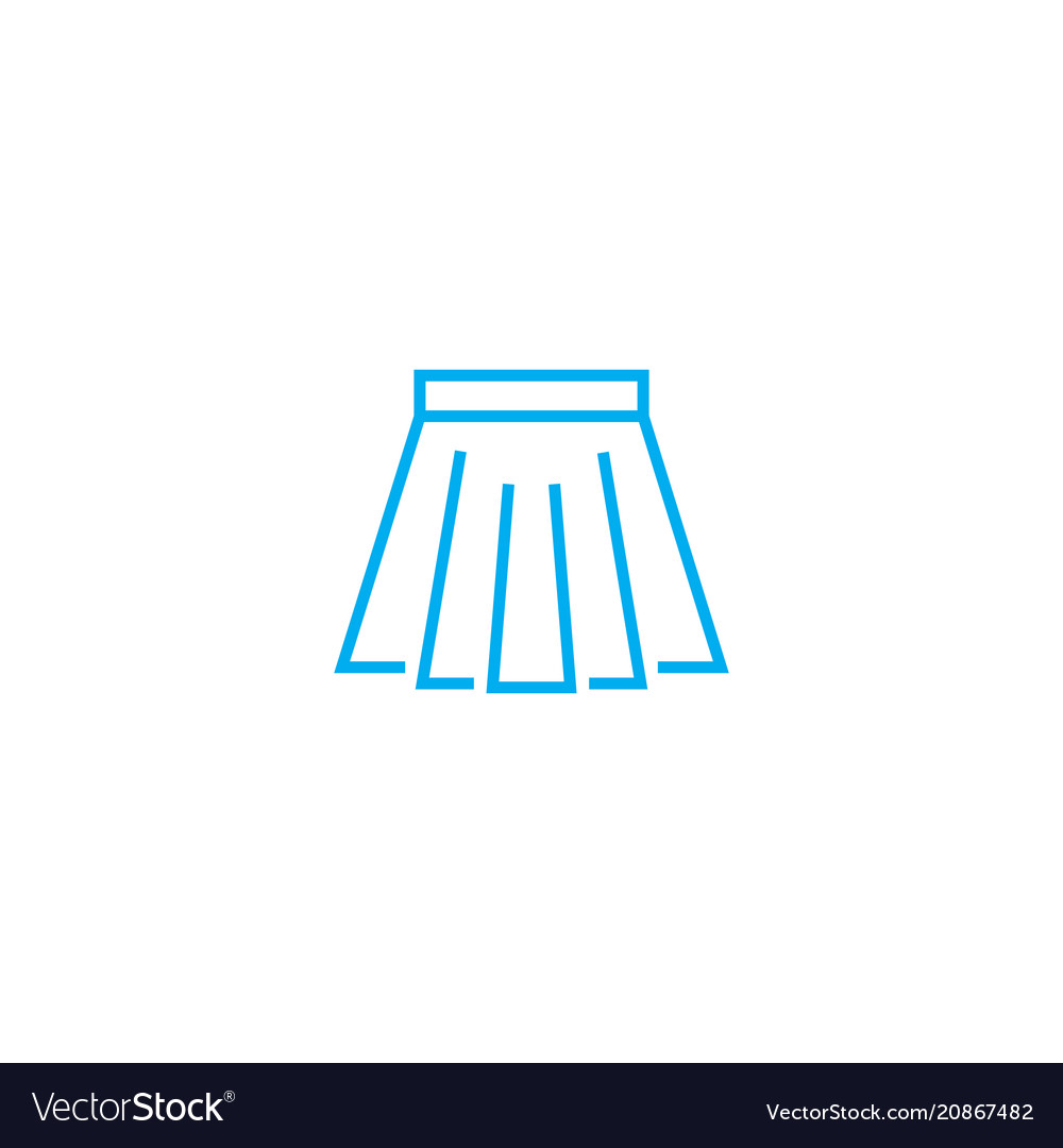 Short skirt thin line stroke icon short