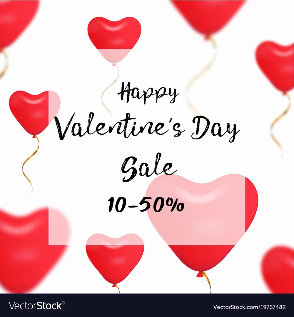 Valentines day sale web banner of valentine red