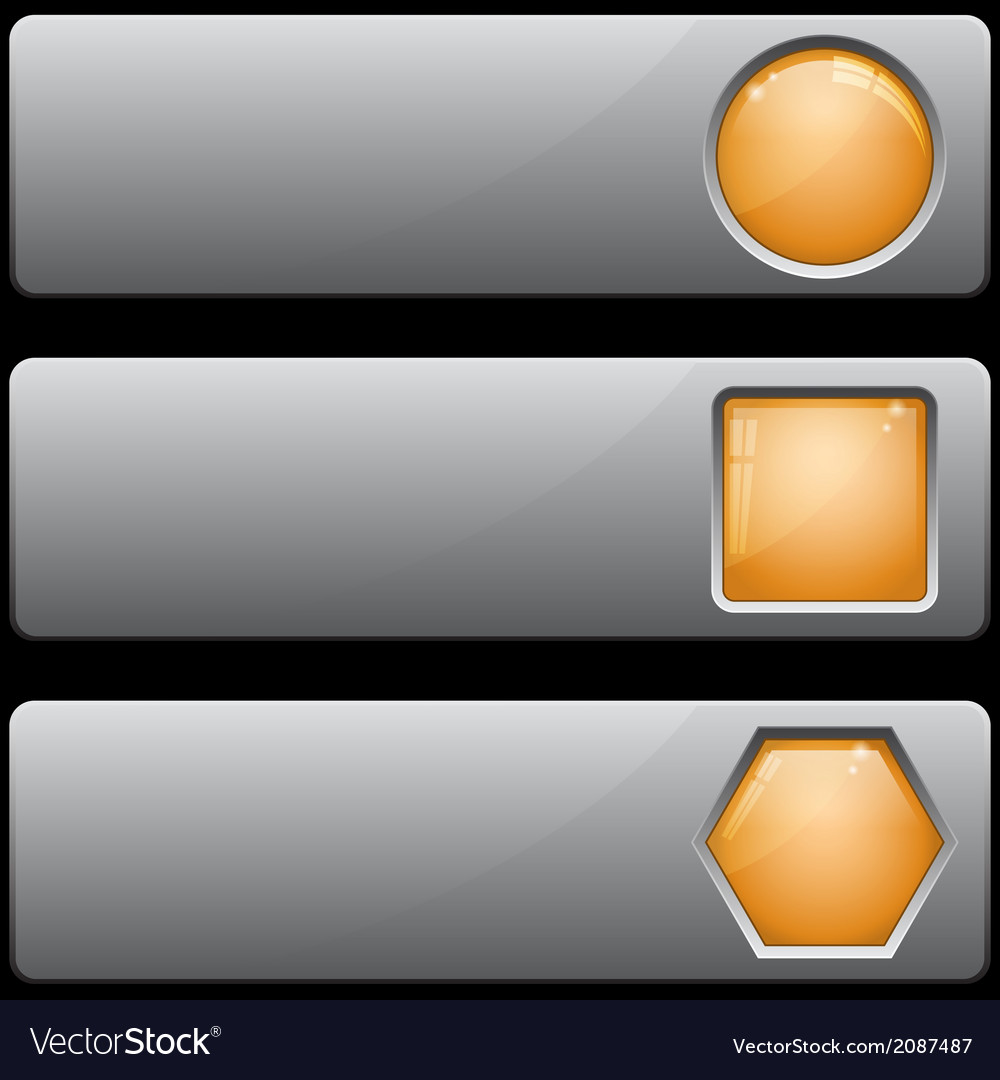 Banners with different buttons