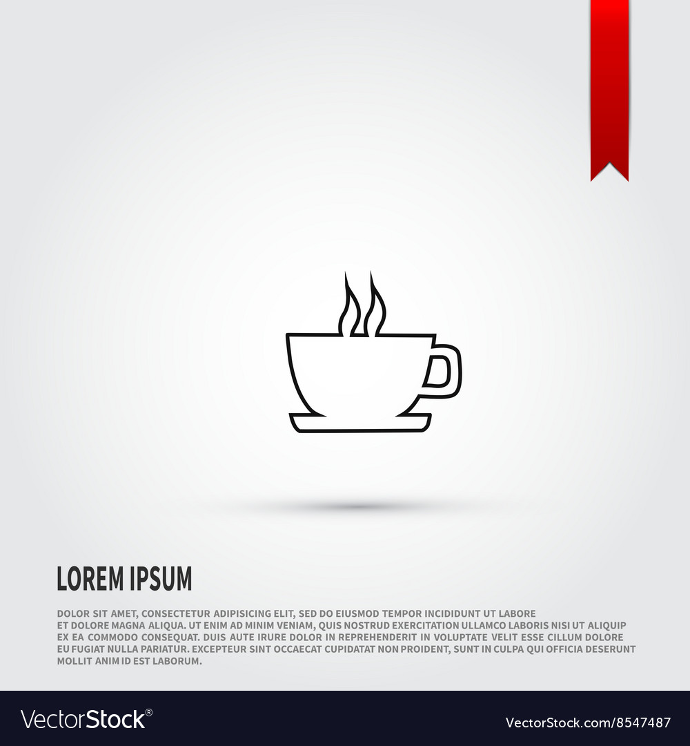 Coffee icon isolated Black silhouette coffee cup
