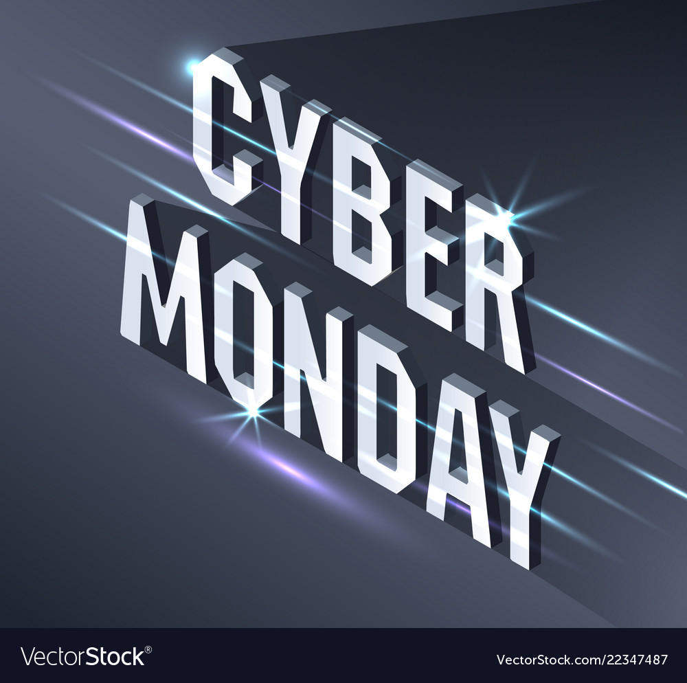Cyber monday web banner data visualization