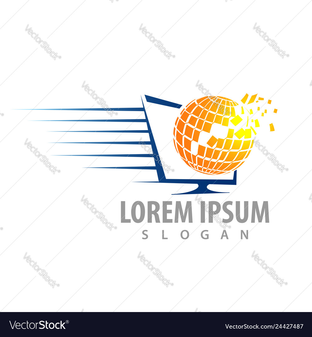 Global speed tech concept design symbol graphic