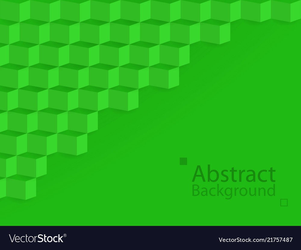 Green nature earth abstract background square 3d