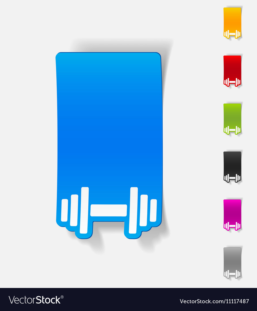 Realistic design element dumbbell