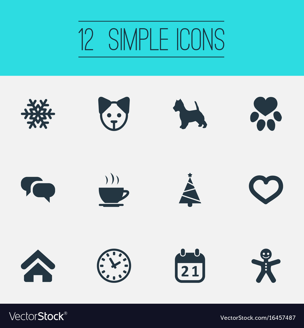 Set of simple house icons