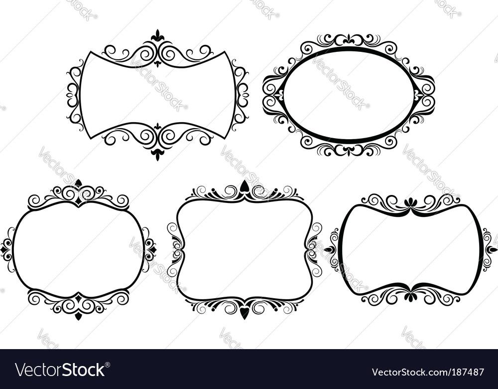 Set of vintage frames Royalty Free Vector Image