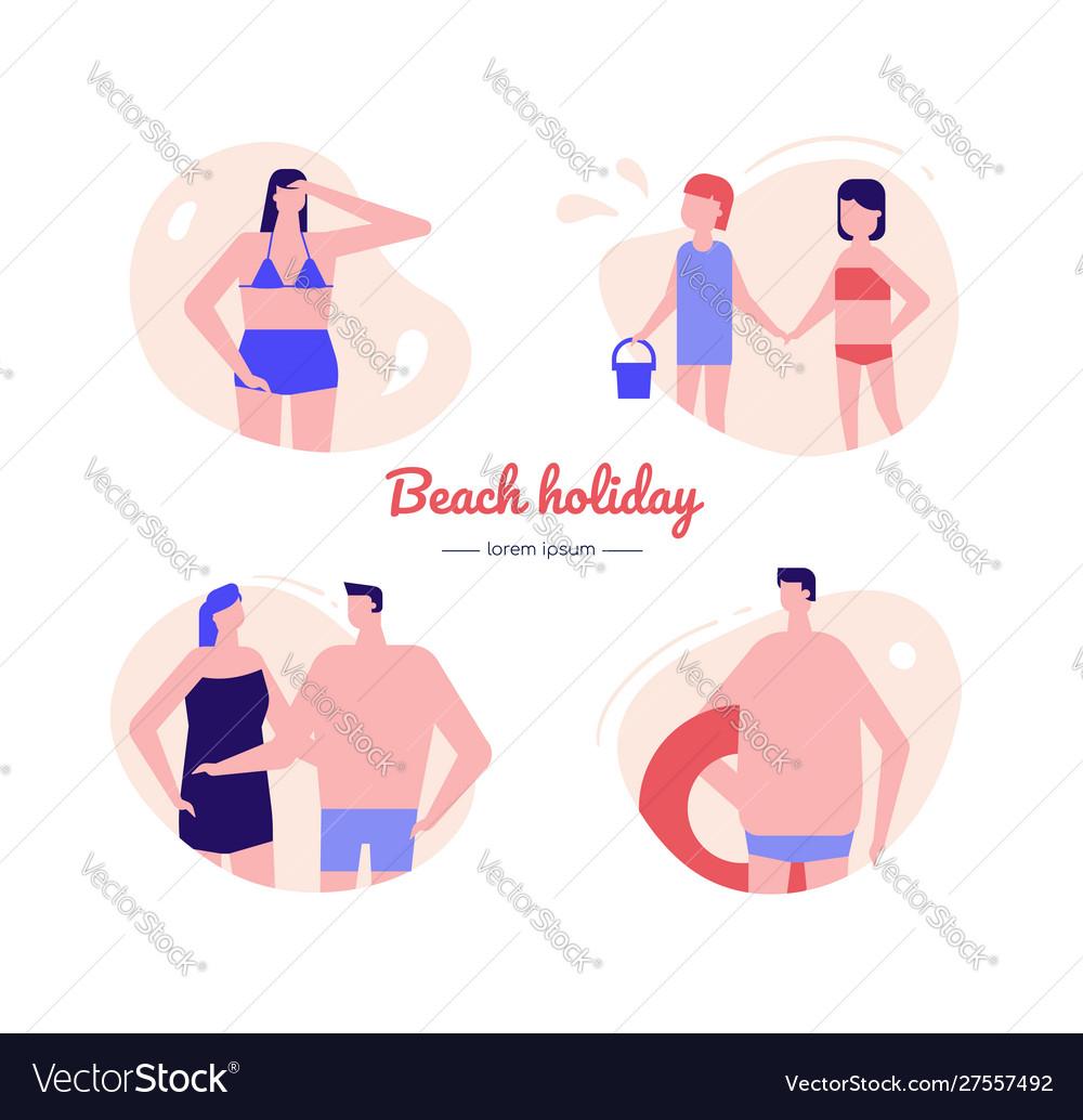 Beach holiday - flat design style