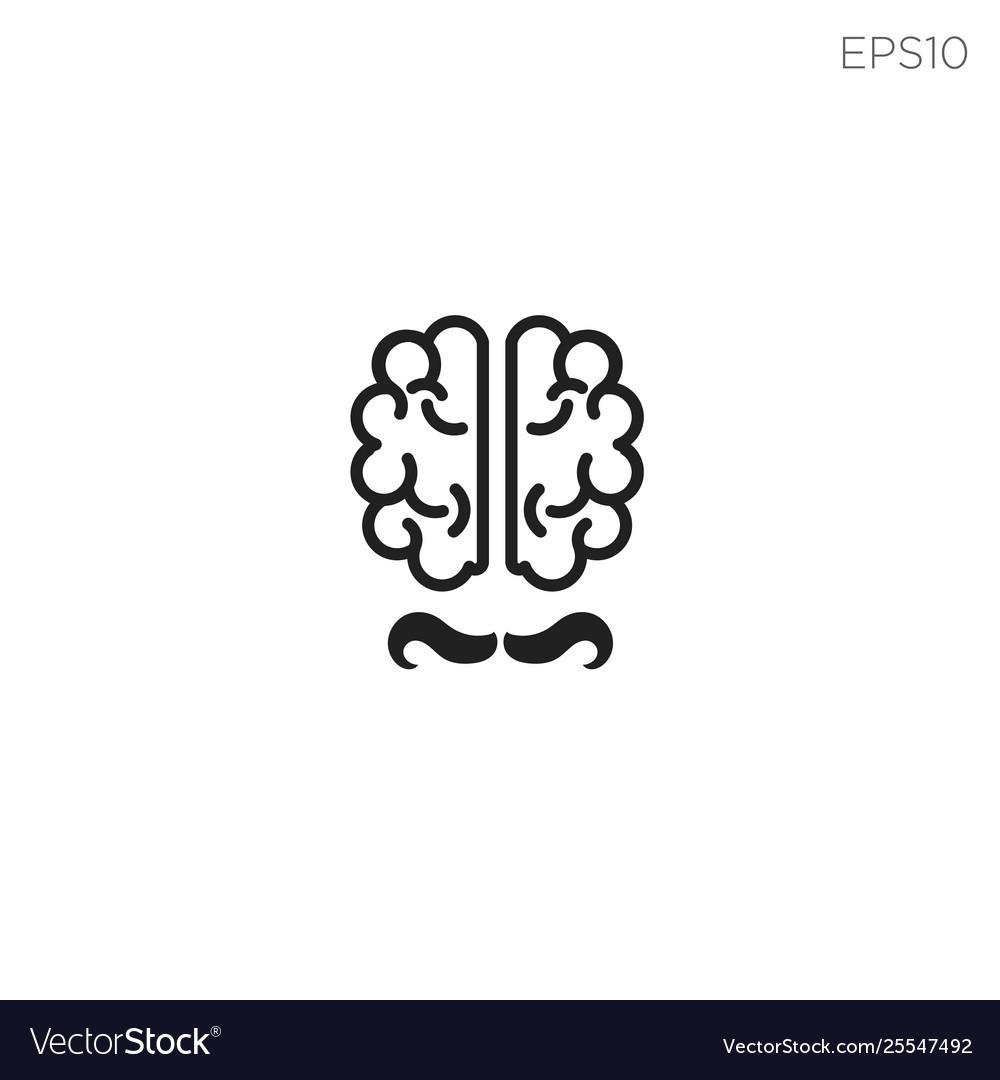 Brain talk idea logo template