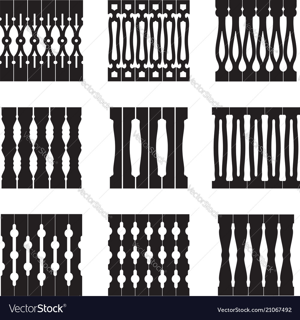 Collection of decorative patterns ethnic decor