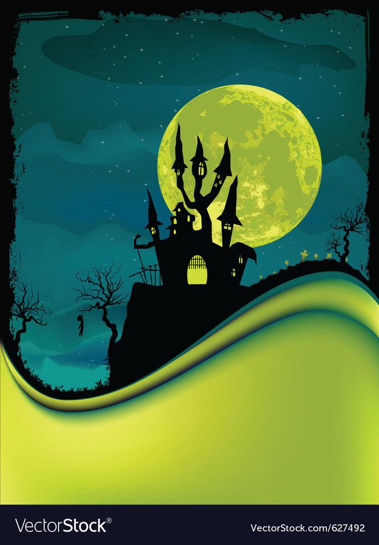 Dark scary halloween night