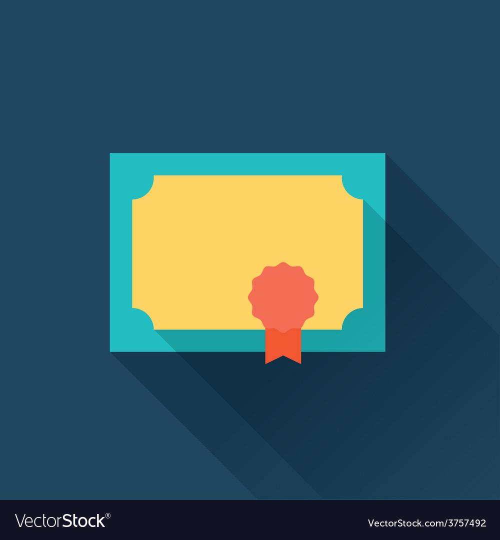 Diploma flat icon