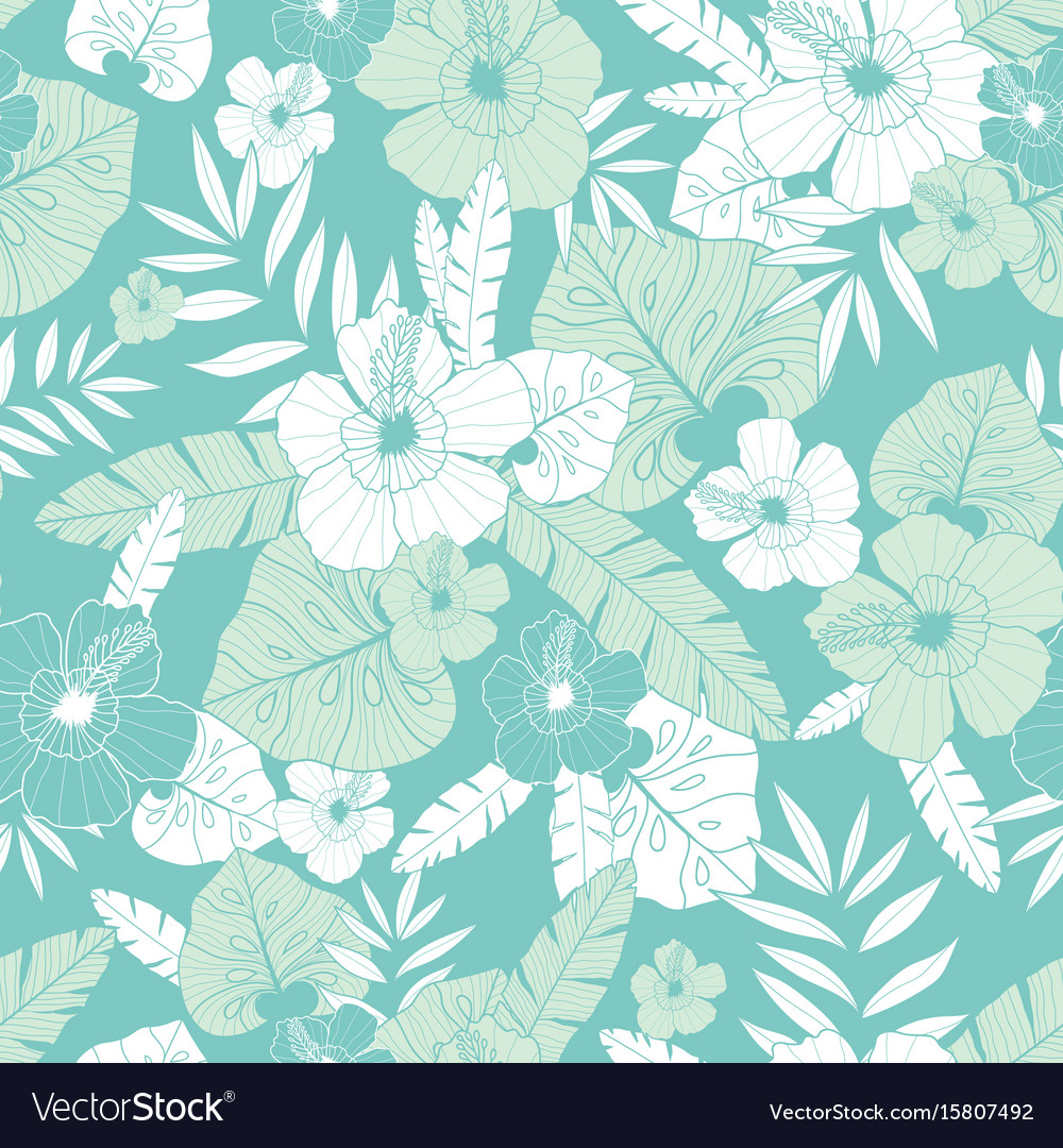 Light green and blue tropical summer