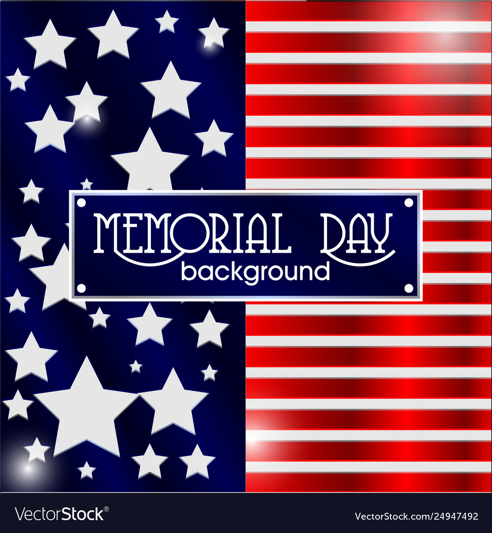 Memorial day background american flag vector image