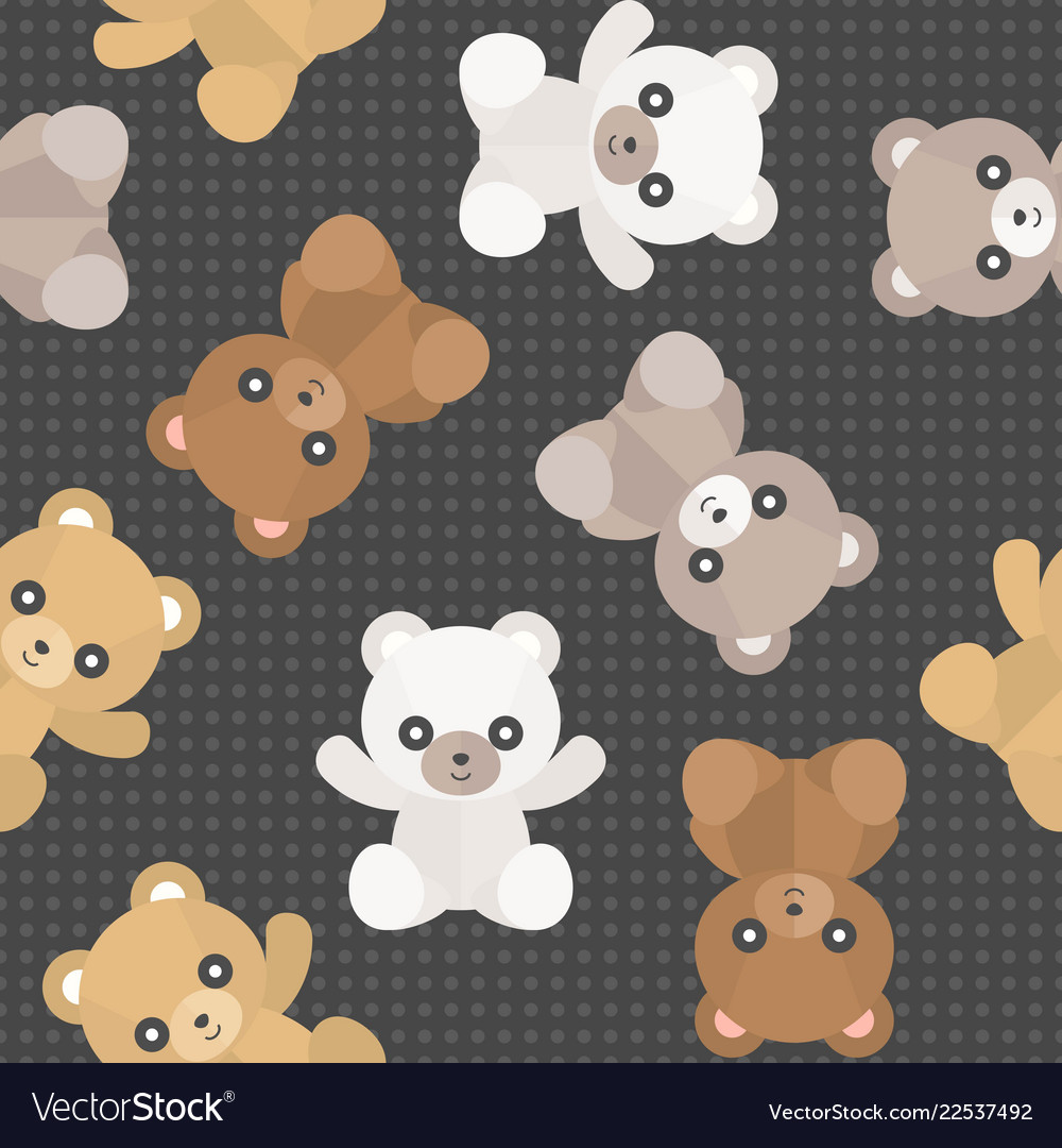 Seamless pattern cute teddy bear for use as vector