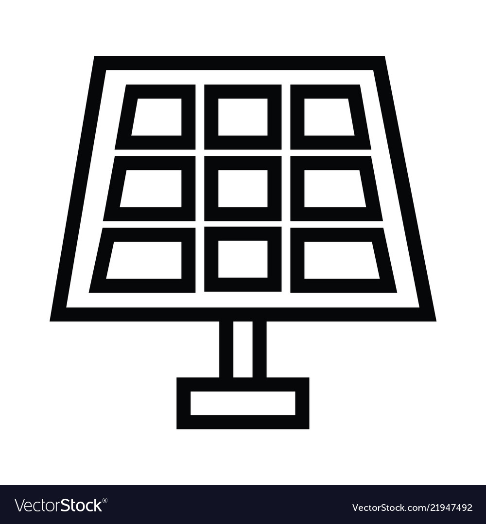 Solar panel icon in flat style isolated on grey