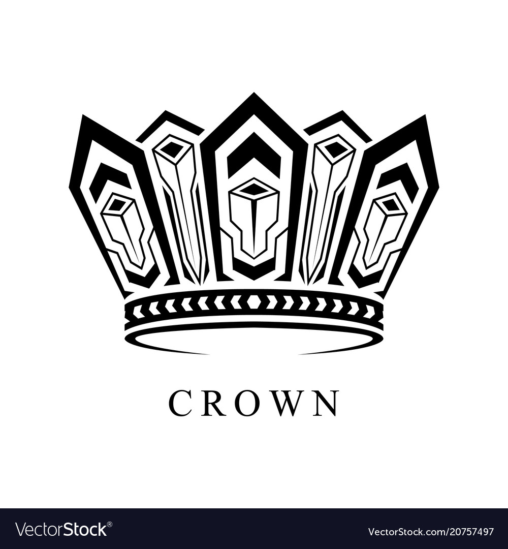 Crown logo abstract design template