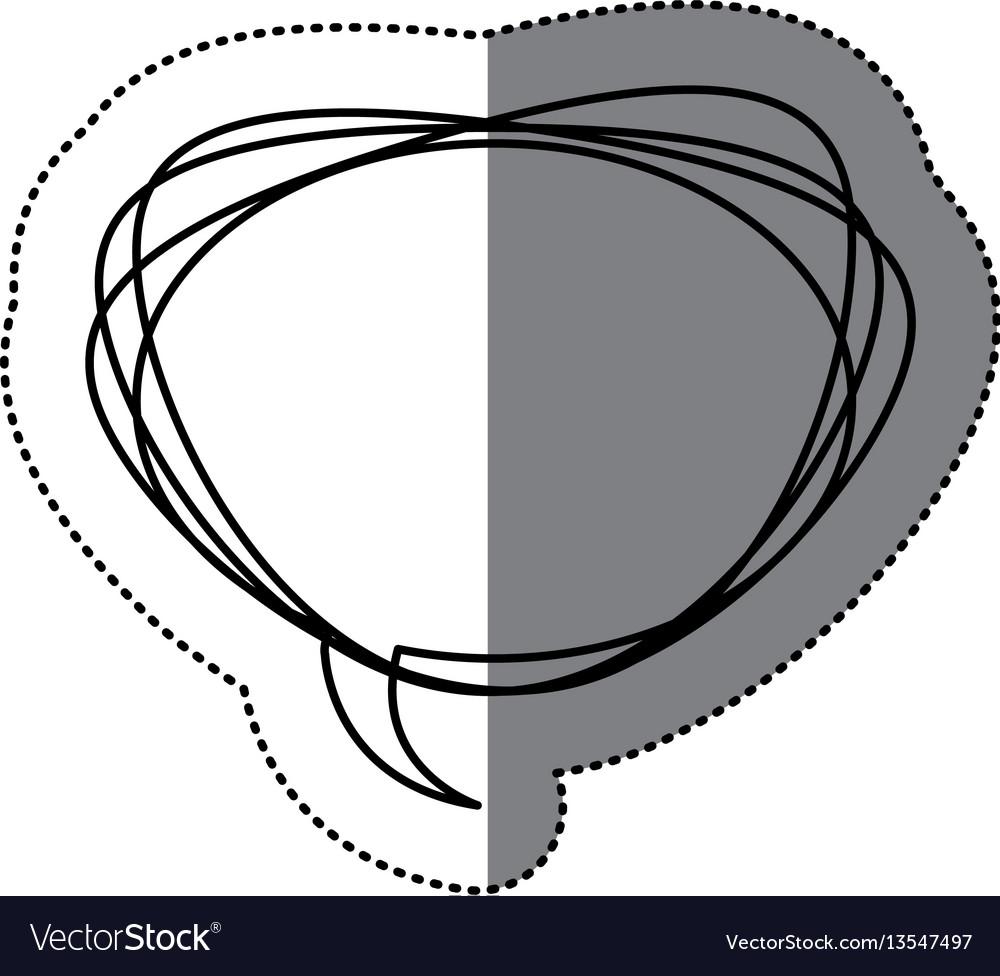 Figure round chat bubble icon