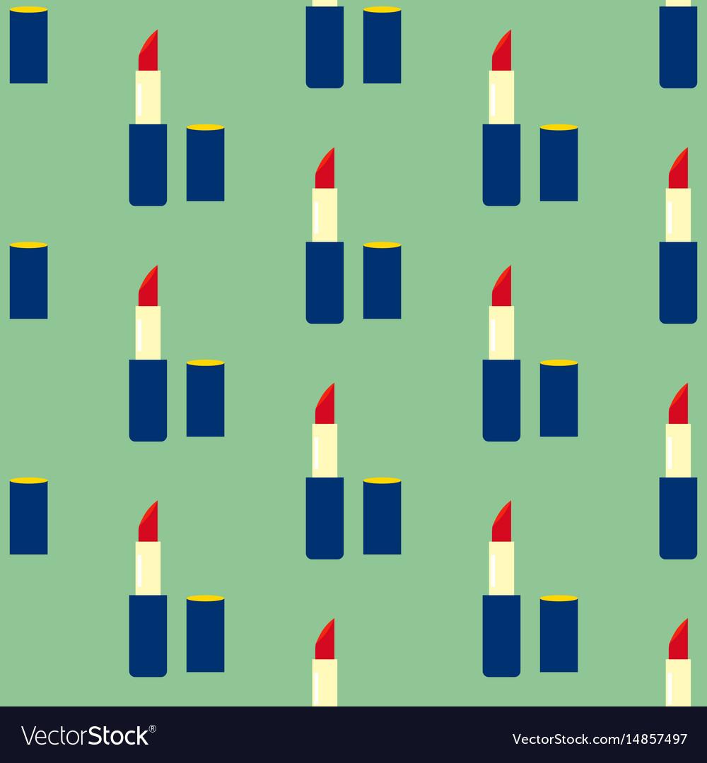 Lipstick make up seamless pattern