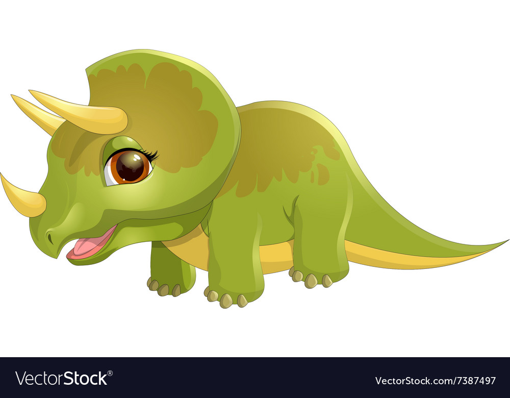 Triceratops on a white background