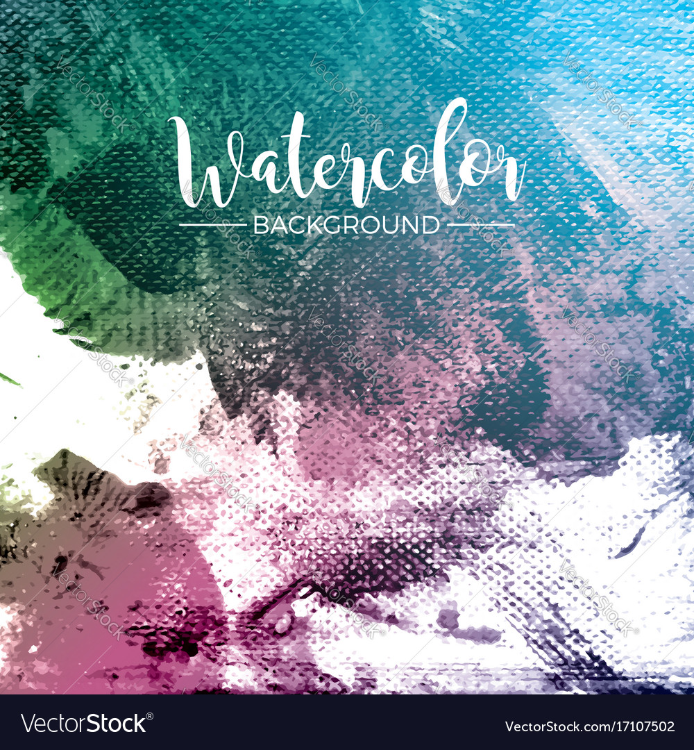 Abstract hand painted watercolor background